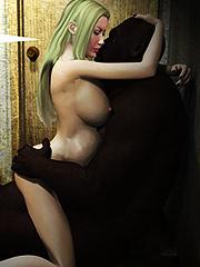 Sexy white bitch - Interracail cartoon porn by Dark Lord