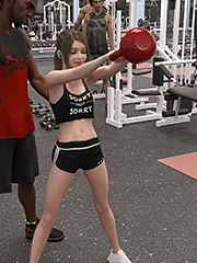 I think you're ready for something bigger - Natasha's workout part 1 by Dark Lord