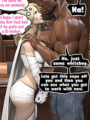 Oh it was huge, probably eight inches - Enma Frost and Luke Cage by Dark Lord