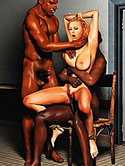 Your cum tastes amazing - Interracial cuckold  by Interracial sex 3D 2016