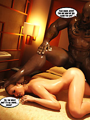 You are now my sex slave for life - Green rage  by Interracial sex 3D 2016