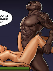 That big dick is about to make me cum - The poker game 2 Raising the stakes by Black n White comics 2016