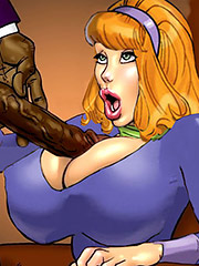 Look at all my drool hanging off this monster cock - Scandalous Daphne part 4 by Pit parody
