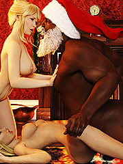 Mom and me fuck black Santa Claus that night - I saw mommy kissing Santa Claus by Dark Lord