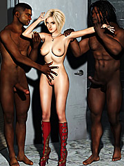 My husband's cock is nothing compared to this one - Interracial cuckold  by Interracial sex 3D 2016