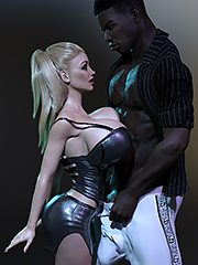 Open up real wide slut - Interracial 3D by Dark Lord