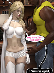 Don't bother with that psychic shit - Enma Frost and Luke Cage by Dark Lord