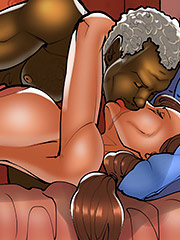 I'm cumming so hard for him - The wife and the black gardeners 3 by Kaos comics