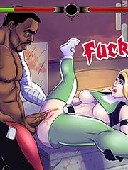 Oh wow that feels good - Interracial cartoon porn: Street fighter, Cammy, fucktality, Sonya, Jax by Michi