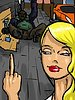 Kelly waves the middle finger - The Homeless man's new wife by Illustrated interracial