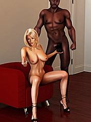 Give me that cock - Interracial cuckold  by Interracial sex 3D 2016