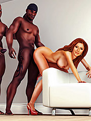 I never had two black cocks at once - Interracial cuckold  by Interracial sex 3D 2016