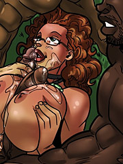 Jenny makes sure her gardners have the right sized tools - Bbc interracial porn  by Kaos comics